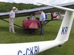 Fly Drive - Checking out the glider (Sunday June 30th 2013)(Photo by: Geoff)