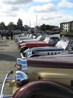 IOW 2013 - All lined up On Newport Quay (Photo by: Geoff & Roz)