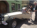 Alsace Trip. 20-27th June 2014 - Ever friendly panther people letting passerby sit in the car!